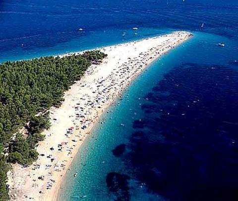 Insel Brac - (Kroatien, Küste, Sandstrand)
