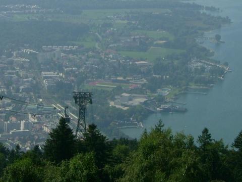 Blick vom Pfänder zur Seebühne Bregenz - (Deutschland, Österreich, Schweiz)