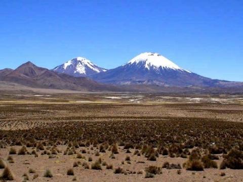 Parinacota und Pomerape, Chile - (Reise, Asien, Südamerika)