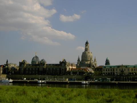Elbufer Dresden Altstadt - (Deutschland, Europa, Architektur)