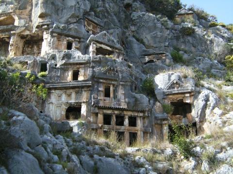 Felsengräber Myra - (Urlaub, Türkei, Ausflug)
