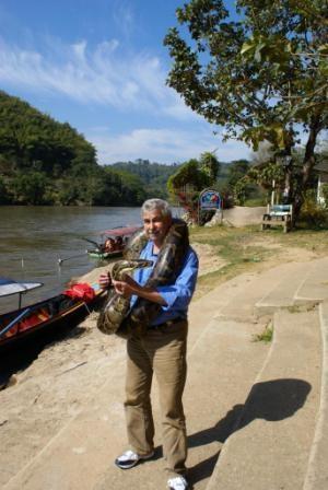 ich mit ner 40 kg Schlange - (Australien, Tiere, Schutz)