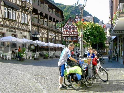 Rheinradweg bei Koblenz - (Deutschland, Fahrradtour, Loreley)