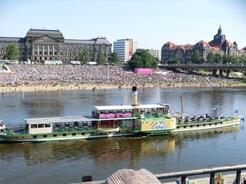 Dresden Schaufelraddampfer - (Deutschland, Wandern, Dresden)