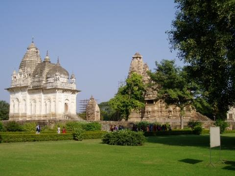 Khajurahos Westgruppe - (Asien, Indien, Tempel)