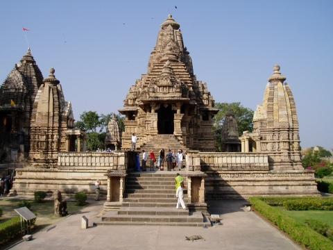 beim Tempelteich - (Asien, Indien, Tempel)