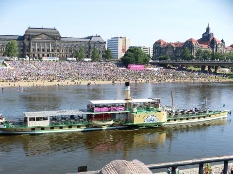 Dampfer Dresden - (Deutschland, Urlaub am Wasser, Raddampfer)