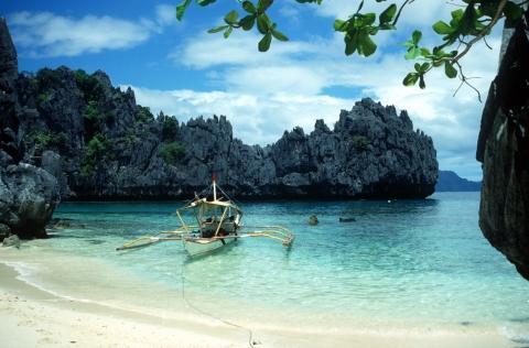 Picknick-Spot auf einem der Inselchen vor El Nido - (Insel, Philippinen)