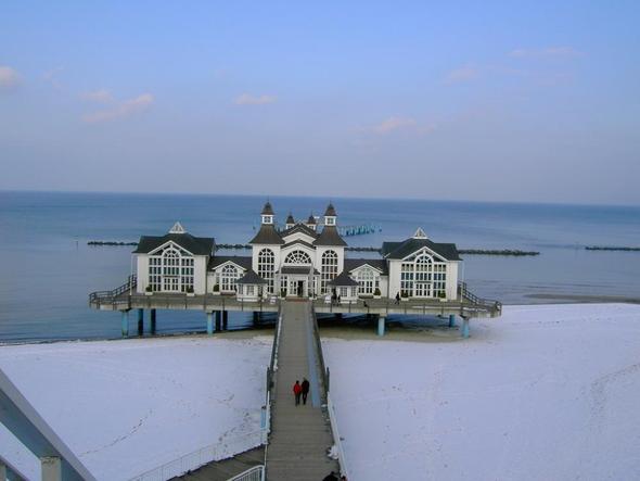 Seebrücke Sellin im Winter - (Deutschland, Rügen, Aktivitäten)