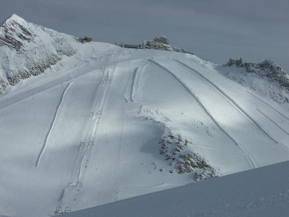 Hintertuxer - Blick auf die Aussichtsplattform - (Österreich, Wandern, Skifahren)