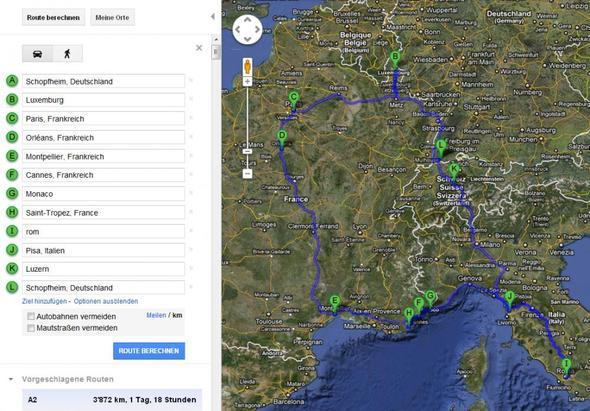 Route - (Europa, Reise, Frankreich)