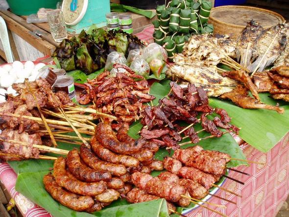 Markt in Pak Lay - (Asien, Kambodscha, Laos)