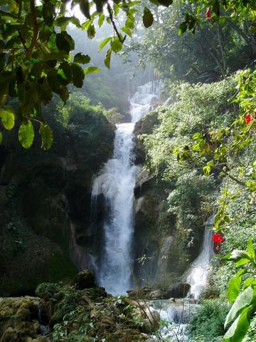 Wasserfall - (Asien, Laos, Wasserfall)