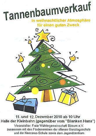 Tannenbaumverkauf in Büsum - (Deutschland, Europa, Ferienhaus)