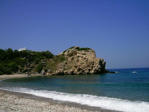 Naxos, Abram mit Einsamkeitsgarantie und Kieselstrand - (Griechenland, Reisezeit, Kykladen)