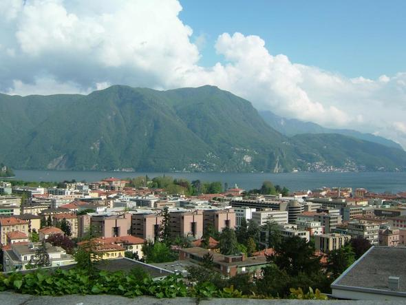 Blick vom Hotel villa Sassa auf Lugano - (Europa, Reiseziel, Flitterwochen)