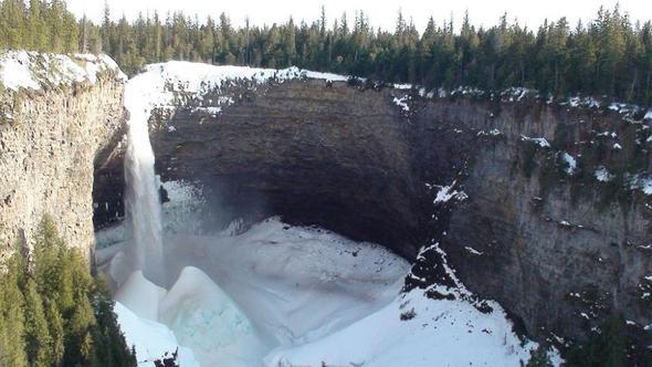 Helmken Fall im Winter wie oben beschrieben - (Reise, Fernreise, Erlebnis)