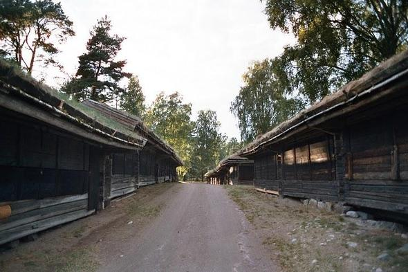 alte vikionger einkaufstrasse - (Europa, Skandinavien, Schweden)