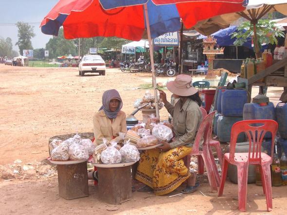 Marktfrauen - (Thailand, Kambodscha, Reiseland)