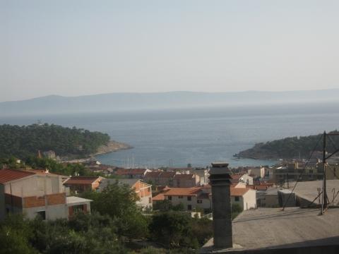 das ist der Blick vom Balkon direkt aufs Meer - (Kroatien, Party, Istrien)