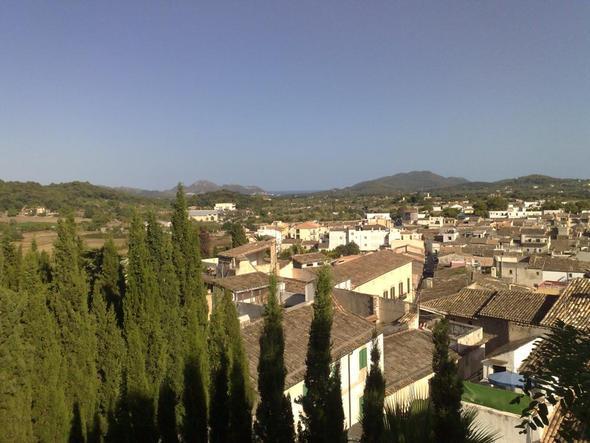 Ausblick von der Wallfahrtskirche - (Spanien, Insel, Mallorca)