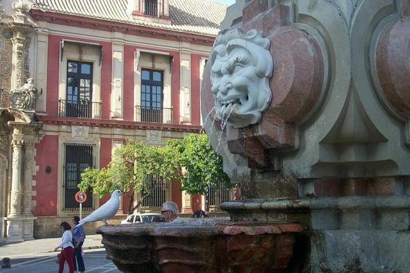 sevilla plaza espania alleregionen von spanien aus keramic  zur weltaustellung - (Deutschland, Spanien, EU)