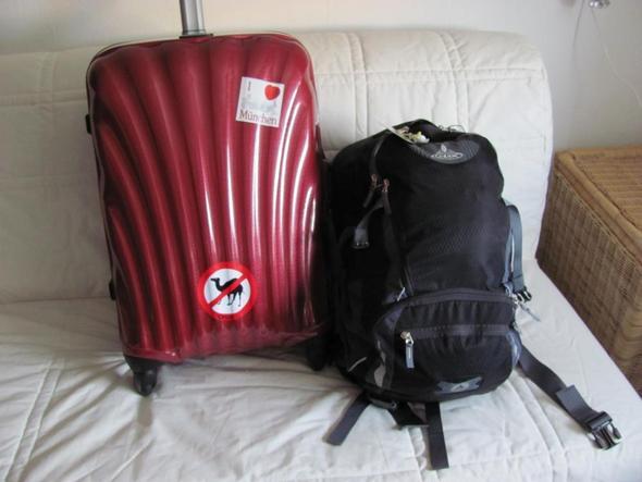 50-l-Köfferchen und 30-/35-l-Daypack - (USA, Mietwagen, Gepäck)