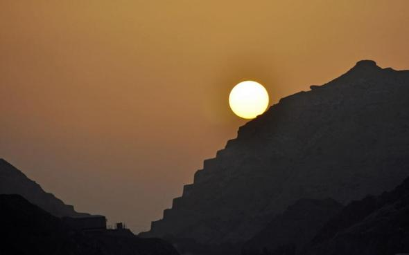 Sonnenuntergang, Muttrah, Oman - (Oman, Persischer Golf, Arabische Halbinsel)
