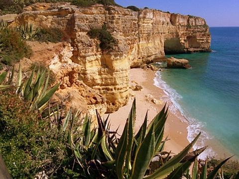 Praia da Marinha bei Carvoeiro - (Portugal, Algarve, ruhige Regionen)
