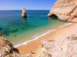 Praia do Carvalho bei Carvoeiro - (Portugal, Algarve, ruhige Regionen)