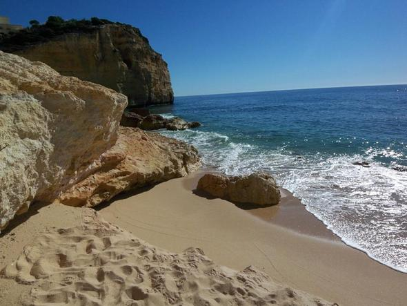 Praia Centianes bei Carvoeiro - (Portugal, Algarve, ruhige Regionen)