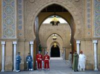 Eingang zum Königspalast in Rabat - (Afrika, Marokko, Königspaläste)