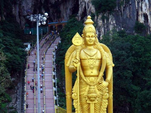Batu Caves bei Kuala Lumpur - (Asien, Malaysia, Reiseroute)