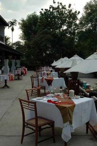 "Das Restaurant des Hotels ""La Résidence Phou Vao"" Luang Prabang - (Hotel, Asien, Wellness)"