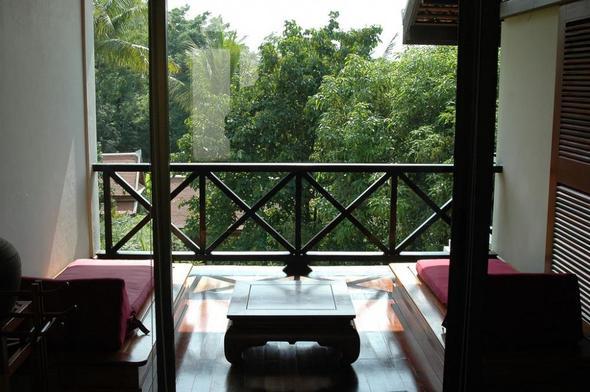 "Ausblick von meinem Zimmer im ""La Résidence Phou Vao"" Luang Prabang - (Hotel, Asien, Wellness)"