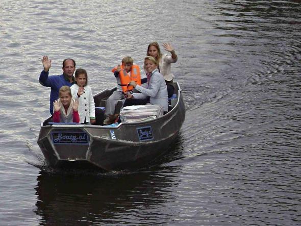 elektrisches Grachtenboot Amsterdam - (Holland, Amsterdam, Boot)