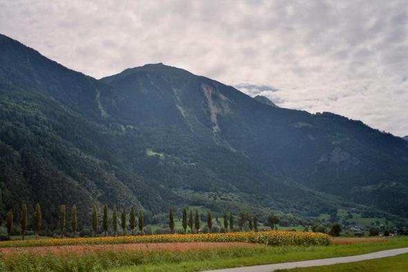 Rhonetal bei Leuk - (Alpen, Route, Radtour)