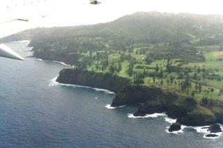 Anflug auf Norfolk Island - (Insel, Neuseeland, Fähre)