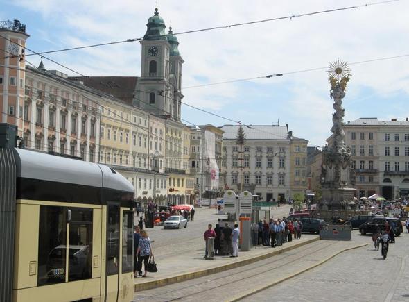 Linzer Hauptplatz - (Österreich, Shopping, Einkaufen)
