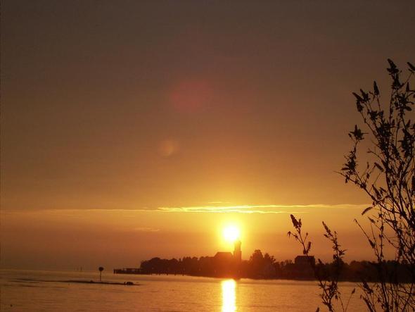 Sonnenuntergang in Lindau  - (Deutschland, Insel, Bodensee)
