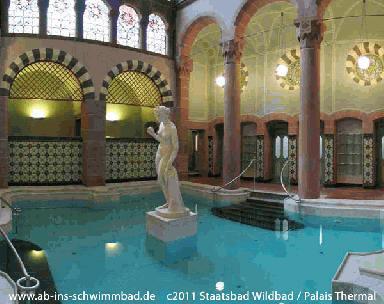 Palais-Thermal-Bad in Bad Wildbad - (Deutschland, Ausflug, Natur)