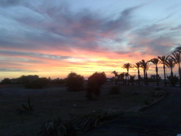 Sonnenuntergang am Mar Menor - (Spanien, Reiseziel, Golf)