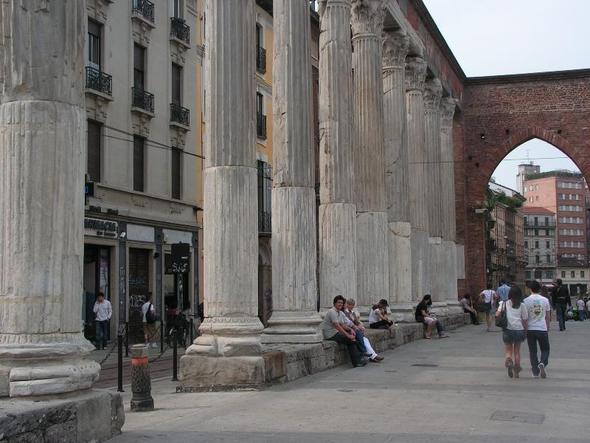 Mailand - Colonne di San Lorenzo - (Italien, Strand, Stadt)