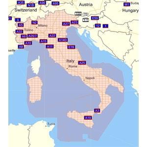 rosa = Gebiet erfasst - (Sardinien, Karten, GPS)