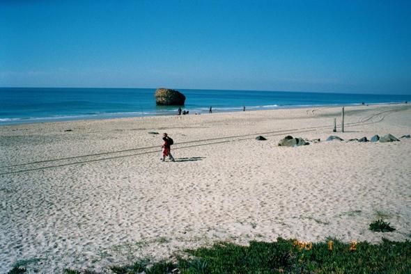 70 km sandstrand - (Spanien, Strand, Auto)