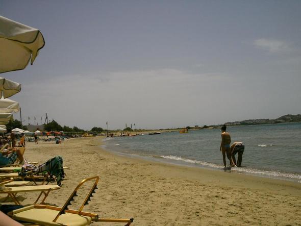 Georgiosstrand direkt in Naxos-Stadt - (Urlaub, Strand, Griechenland)