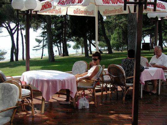 Restaurant im Garten des Hotels - (Europa, Kroatien, Urlaub am Meer)