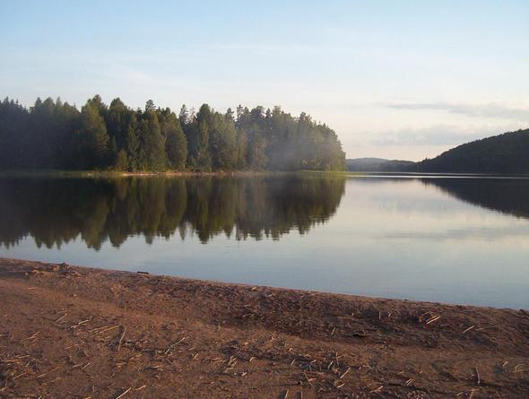 hechte  angeln mit reinlaufen in den see - (Schweden, angeln)