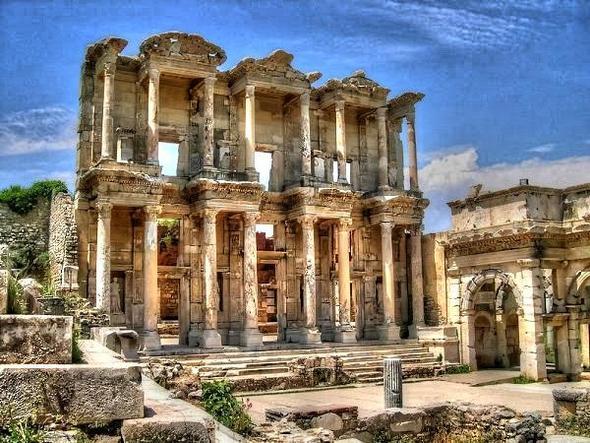 Ephesos - die Celcius Bibliothek - (Türkei, Kreuzfahrt, Izmir)