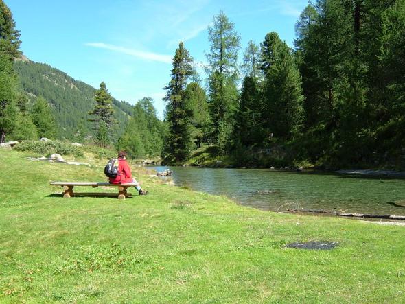kleiner See im Turtmanntal - (Italien, Wandern, Natur)